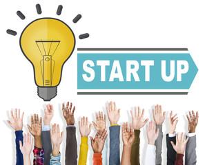 Start Up Growth Business Success Launch Concept