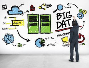 Businessman Big Data Corporate Ideas Writing Concept