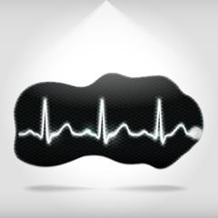 Heartbeat on an abstract shape
