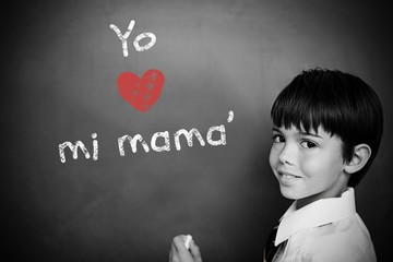 Composite image of spanish mothers day message