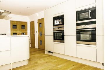 Full wall of modern kitchen units