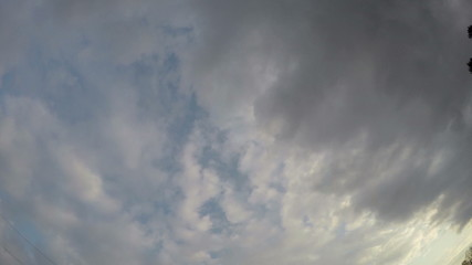 evening sky clouds motion timelapse 4K
