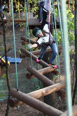 Teen climber training