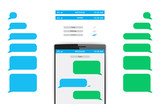 Message Phone Template - 83189451