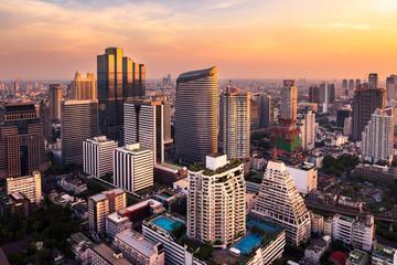 sunlight bangkok city skyline