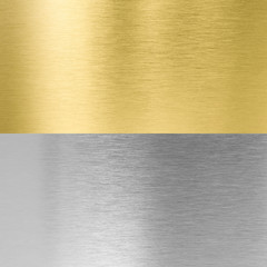 silver and gold stitched metal textures