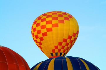 Hot air balloons rising