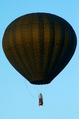 unique hot air balloon flying
