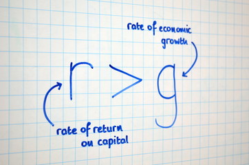 Rate of Return on Capital greater than Rate of Economic Growth