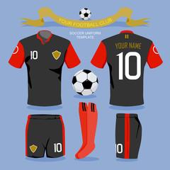 Soccer uniform template.