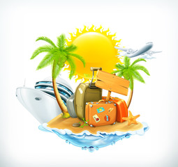Summer travel, vector icon