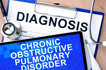 tablet with chronic obstructive pulmonary disorder