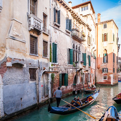Canal et gondoles à Venise, Italie