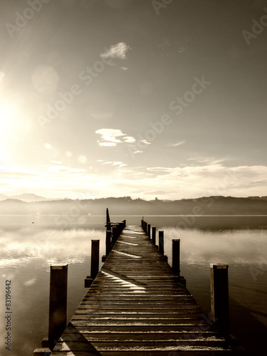 Plexiglas Pier wooden jetty (239)