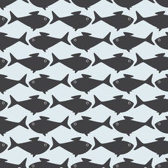 Grey fish opposite pattern