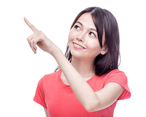 Chinese woman pointing