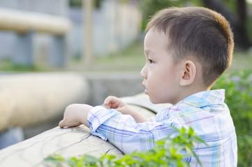 Smart child thinking the future