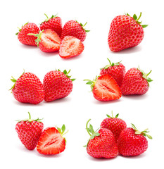 Collection of photos perfect ripe strawberry © svetamart
