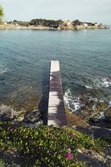 Pier in the seashore, natural landscape