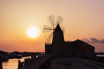 Sunset at the mill