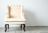 Fototapety Classical style Armchair sofa couch in vintage room