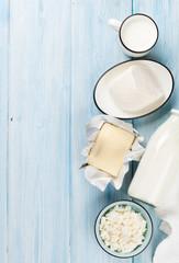 Sour cream, milk, cheese and yogurt