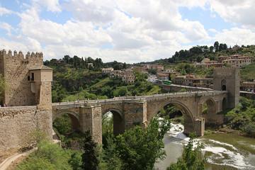 Toledo. Spain. San Martin's Bridge.