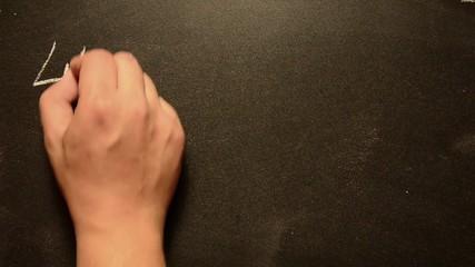 404 error, handwritten with white chalk on blackboard