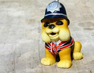 chien bouledogue anglais,figurine