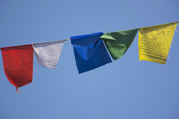Tibetan Prayer Flags in Bir, North India