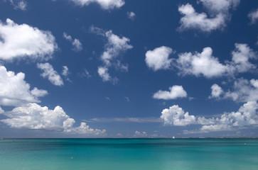 The sky and the ocean, Saint Martin