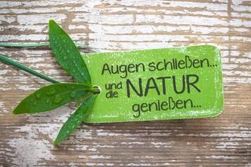 Gelassenheit in der Natur - Label Konzept