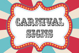 Fototapety Carnival sign template