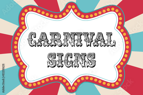 Aluminium Vintage Poster Carnival sign template
