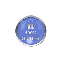 Button Blau - Sicherheit