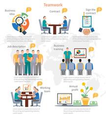 Teamwork Infographics Template
