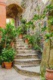Fototapety Alley in Italian old town Liguria Italy