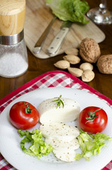 Cheese, salad, tomatoes and some ingredients
