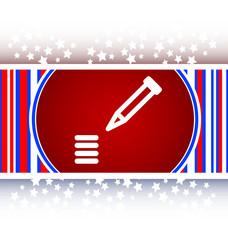 School Pencil Icon web icon on white background vector