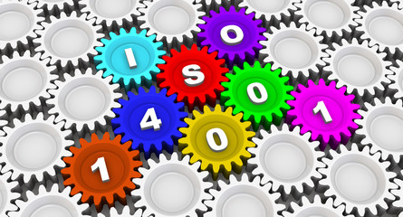 ISO 14001. Inscription on the gears