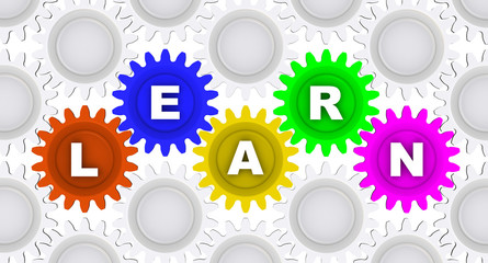 LEARN. Word on the gears