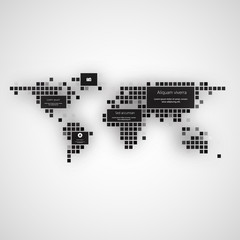 Modern info graphics. World Map and typography