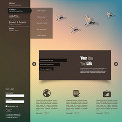 Vector illustration of Blurred web design