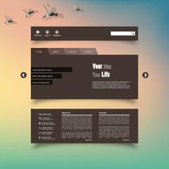 Vector illustration of Blurred web design
