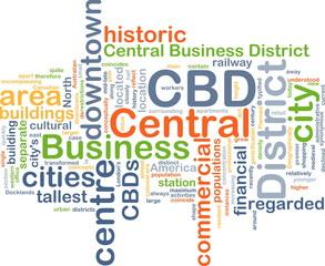 Central business District CBD background concept