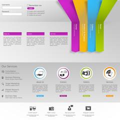 Business Website Template Vector