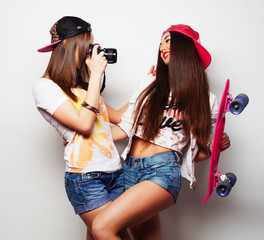 young women in summer clothes