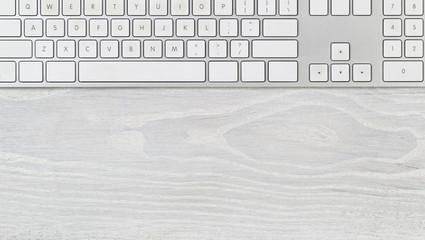 Clean desktop with computer keyboard