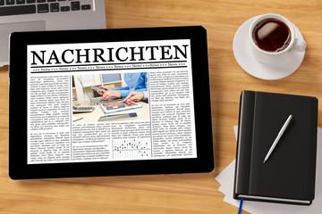 Nachrichten als ePaper auf Tablet Computer