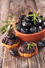 black olive and tapenade